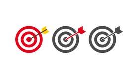 Иллюстрация значка дизайна абстрактной цели плоская Стоковое Фото