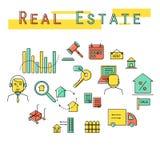 Иллюстрация значка концепции вклада недвижимости Стоковые Фото