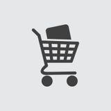 Иллюстрация значка магазинной тележкаи стоковые изображения