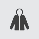 Иллюстрация значка пальто стоковое изображение