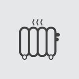 Иллюстрация значка радиатора стоковые фото