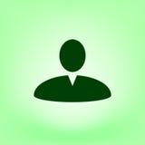 Иллюстрация значка сети профиля пользователя Стоковое Изображение