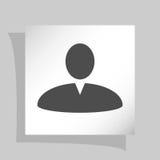 Иллюстрация значка сети профиля пользователя Стоковая Фотография