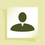 Иллюстрация значка сети профиля пользователя Стоковые Фотографии RF