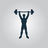 Иллюстрация значка сильного человека фитнеса Стоковое Изображение RF