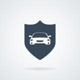 Иллюстрация значка страхования автомобилей Стоковое Изображение