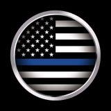 Иллюстрация значка флага поддержки правоохранительных органов Стоковые Изображения RF