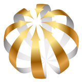 Икона стрелок золота Стоковые Фотографии RF