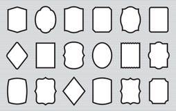 иллюстрация золота предпосылки бронзовая изолировала белизну вектора серебра комплекта ярлыков Различные рамки фото формы Стоковые Фотографии RF