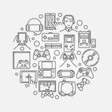 Иллюстрация игры круглая Стоковое Изображение RF