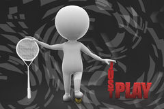 иллюстрация игры человека 3d как раз Стоковое Изображение RF