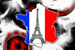 Иллюстрация дизайна искусства Парижа Стоковое фото RF