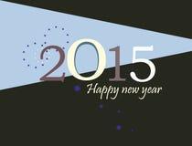 иллюстрация 2015 дизайна поздравительной открытки плоская Стоковые Изображения
