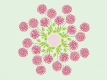 Иллюстрация дизайна предпосылки мандалы цветков георгина акварели флористическая Стоковая Фотография