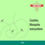 Иллюстрация 02 дизайна шаржа дня малярии мира Стоковые Изображения
