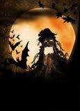 Иллюстрация изверга хеллоуина деревянная Стоковое фото RF