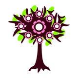 Иллюстрация изолированная деревом Стоковые Изображения