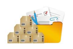 Иллюстрация инвентаря хранения Стоковые Фотографии RF