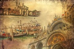 Иллюстрация искусства Венеции Стоковое Изображение