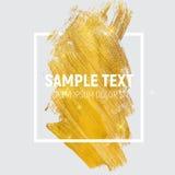 Иллюстрация искусства краски золота блестящая текстурированная Illustra вектора Стоковая Фотография