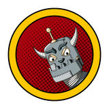 Иллюстрация искусства шипучки злого робота Стоковое фото RF