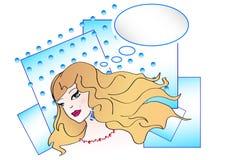 Иллюстрация искусства шипучки славной девушки иллюстрация вектора