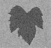 Иллюстрация лист виноградины иллюстрация штока