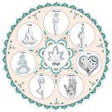 Иллюстрация йоги вектора стоковая фотография