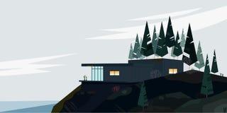 Иллюстрация кабины стоковые фото