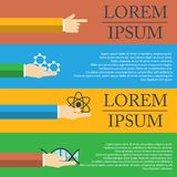 Иллюстрация капсулы показывает молекулу как медицинская концепция Стоковые Фотографии RF