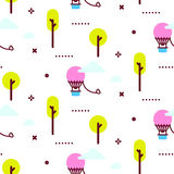 Иллюстрация картины вектора парка атракционов Стоковое Изображение