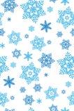 Иллюстрация картины снежинок Стоковые Изображения RF