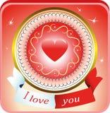 Иллюстрация карточек дня валентинки Стоковое Фото