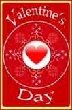 Иллюстрация карточек дня валентинок Стоковое Изображение RF