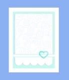 Иллюстрация - карточка свадьбы бирюзы Стоковые Изображения