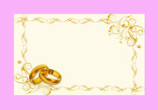 Иллюстрация - карточка свадьбы Стоковая Фотография RF