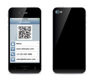Иллюстрация карточки посещения Smartphone Стоковое Изображение RF