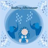 Иллюстрация карточки приглашения детского душа Стоковая Фотография RF