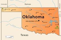 Карта Оклахома Стоковые Фото