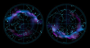 Иллюстрация карты неба Стоковая Фотография RF