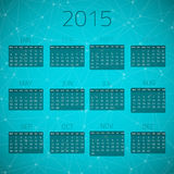 Иллюстрация календаря 2015 соединения лоска Стоковое фото RF