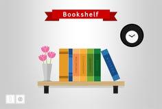 Иллюстрация книжных полок Стоковое Изображение RF