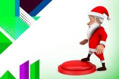 иллюстрация кнопки 3d santa Стоковая Фотография RF