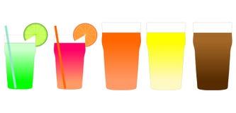 Иллюстрация коктеиля и пива Стоковое Фото