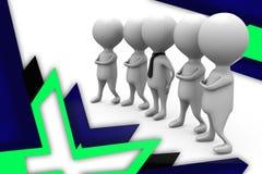 иллюстрация команды бизнесмена 3d Стоковые Изображения RF