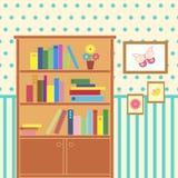 Комната с bookcase иллюстрация вектора