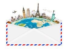 Иллюстрация конверта вполне известного памятника Стоковое Изображение RF