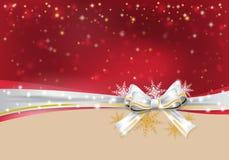 иллюстрация конструкции рождества смычка предпосылки Стоковые Изображения