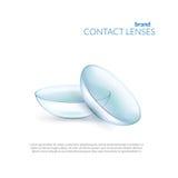 Иллюстрация контактных линзов Стоковые Изображения RF