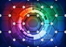 Иллюстрация концепции абстрактной технологии предпосылки вектора Стоковое Фото